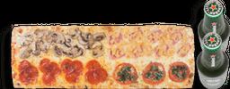 🍕Promoción Pizza 4 Estaciones + 2 Cervezas Heineken