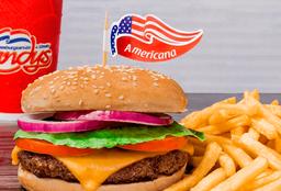 Combo Hamburguesa Americana