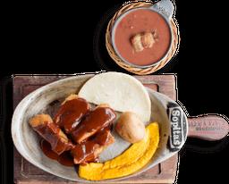 Combo Costillitas BBQ + frijolada