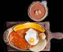 Combo Bistec a Caballo + Frijolada