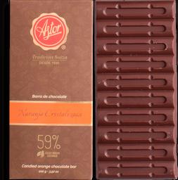 Barra de Chocolate Naranja Cristalizada