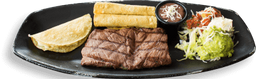 🥩Steak con Quesadillas y Flautas
