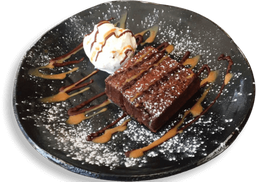 Brownie de Milo con Helado