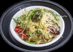 Spaghuetti Zucchini, Berenjenas y Tomates