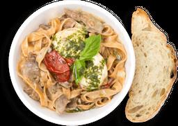 Fettuccine Roastbeef y Pesto