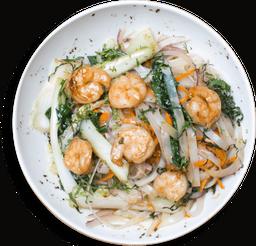 Noodles al Wok con Camarón