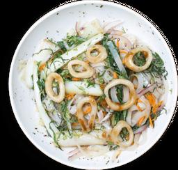 Noodles al Wok con Calamar
