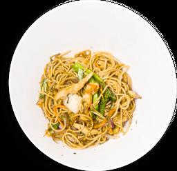 Noodles al Wok con Pollo