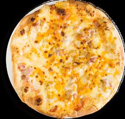 Pizza Papa al Horno, Tocineta y Queso Cheddar