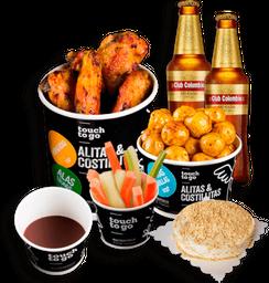 🍖 Alitas + Acompañamiento y Bebidas 🥤