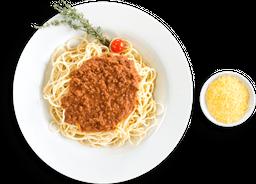 Spaguetti Con Pollo O  Bolognesa