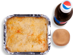 Promo : Lasaña (pollo, carne o mixta) + Bebida de la casa Gratis