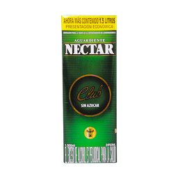 AGUARDIENTE NECTAR CLUB SIN AZUCAR TETRA 1500 ML