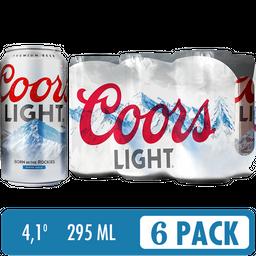 Cerveza Coors Light Six Pack - Cerveza Light 6 latas de 295 ml