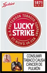 Cigarrillos Rojo Luckies Lucky Strike 20Un
