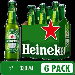 Cerveza Heineken Six Pack - Cerveza Premium 6 botellas de 330 ml