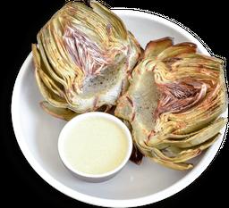 Alcachofa a la Parrilla con Salsa de Vino Blanco y Mostaza Dijon