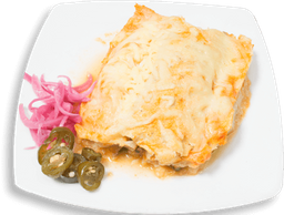 Enchiladas Roja con Carne