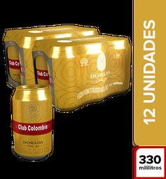 Cerveza Dorada Lata Club Colombia 2 Sixpacks 6UN