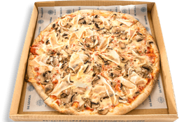 Pizza Jamón de Pavo, Champiñones