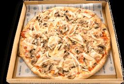 Pizza Jamón de Pavo y Champiñones  Saludable