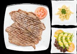 Carne angus a La Parrilla 320 grs+entrada+bebida