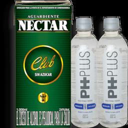 Nectar Verde 100ml y 2 Agua Ph Plus 500ml