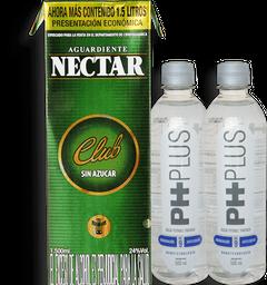 Nectar Verde 1500ml y 2 Agua Ph Plus 500ml