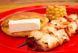 Pincho pollo con Chocla