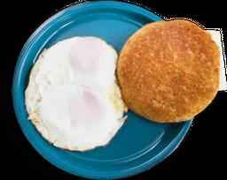 Huevos fritos con chocla