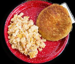 Arepa Chocla con Huevos Sencillos