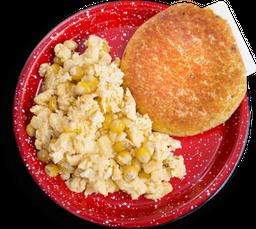 Huevos con maiz y chocla
