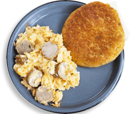 Huevos con chorizo y chocla