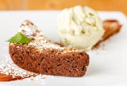 Brownie nueces con gelato