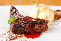Brownie Mora con gelato