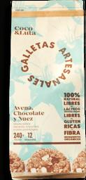 Galleta de avena, chocolate y nuez 40gr