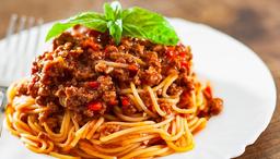 Spaghetti a la Bolognesa.