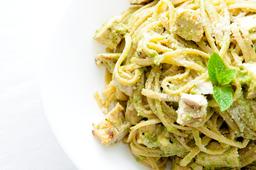 Spaghetti con Pollo.