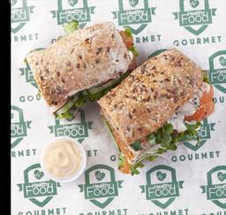 Sándwich de Gravlax de Salmón