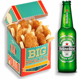 Big Snack de Pollo + Heineken