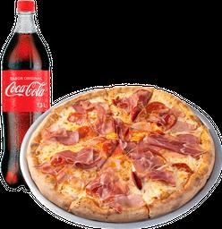 🍕Pizza Gourmet + Gaseosa Coca-Cola de 1.5 Lt