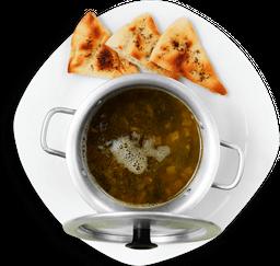 Sopa de Lentejas y Acelgas