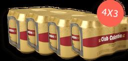Cerveza Club Colombia Six Pack Lata 4x3