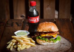 Cheese & Bacon + Papas + Coca-Cola
