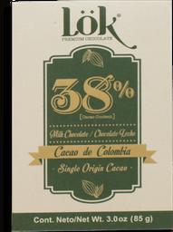 Barra De Chocolate Lok 38% Origen Colombia 85 G