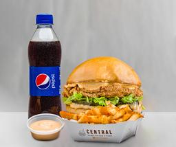 Combo Crispy Chicken Burger