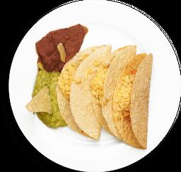Tacos Americanos de Carne o Pollo