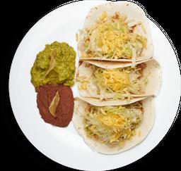 Tacos Mexicanos Suaves de Pollo