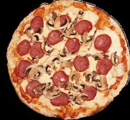 Pizza Salami con Champiñones
