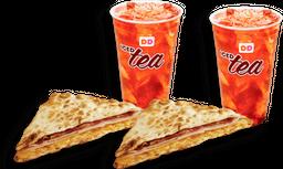 🥪 2 Flats + 🥤 2 Iced Teas